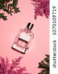 top view of bottle of perfume... | Shutterstock . vector #1070109719