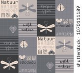 natural typographic pattern.... | Shutterstock .eps vector #1070111189