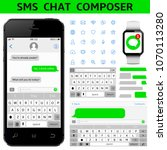 sms chat composer. smartphone...