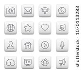 web buttons and icons for... | Shutterstock . vector #1070113283