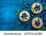 delicious blueberry tartlets... | Shutterstock . vector #1070116280