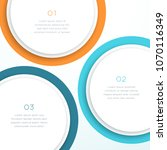 abstract vector colorful circle ... | Shutterstock .eps vector #1070116349