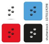 footprints of animal paw flat... | Shutterstock .eps vector #1070119298