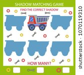 shadow matching game. find the... | Shutterstock .eps vector #1070119310