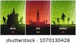 set of football or soccer... | Shutterstock .eps vector #1070130428