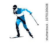 cross country skier  abstract... | Shutterstock .eps vector #1070130638