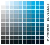 cmyk color chart to use in... | Shutterstock .eps vector #1070133386