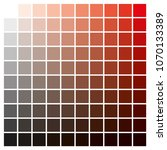 cmyk color chart to use in... | Shutterstock .eps vector #1070133389
