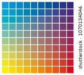 cmyk color chart to use in... | Shutterstock .eps vector #1070134046