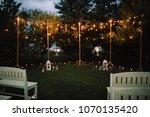 summer evening wedding ceremony | Shutterstock . vector #1070135420