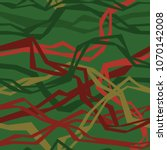 angular interlacing threads | Shutterstock .eps vector #1070142008