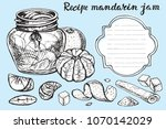 mandarines  jam sketch.vector... | Shutterstock .eps vector #1070142029