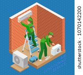 home repair isometric template. ... | Shutterstock .eps vector #1070142200