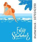 vector summer pool party poster ...   Shutterstock .eps vector #1070142350