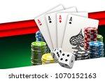 illustration online poker... | Shutterstock .eps vector #1070152163