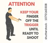 practical shooting safety rules.... | Shutterstock .eps vector #1070160308