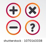plus and minus icons. delete... | Shutterstock .eps vector #1070163338