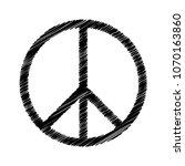 peace symbol vector icon | Shutterstock .eps vector #1070163860