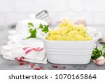 mashed potato. potato mash with ...   Shutterstock . vector #1070165864