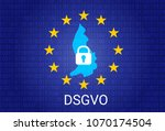 dsgvo   german datenschutz... | Shutterstock .eps vector #1070174504