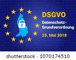 dsgvo   german datenschutz... | Shutterstock .eps vector #1070174510