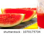 freshly made watermelon drink.... | Shutterstock . vector #1070175734