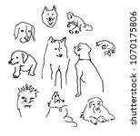 sketch set dogs   Shutterstock .eps vector #1070175806