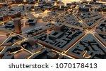 techno mega city  urban and... | Shutterstock . vector #1070178413