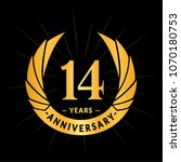14 years anniversary. elegant... | Shutterstock .eps vector #1070180753