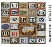 Collage Of House Numbers 100...