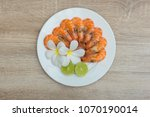 texture of boiled shrimp in a... | Shutterstock . vector #1070190014