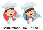 vector illustration of chef... | Shutterstock .eps vector #1070191508