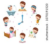 vector illustration of kids... | Shutterstock .eps vector #1070191520
