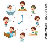 vector illustration of kids... | Shutterstock .eps vector #1070191526