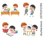 vector illustration of kids are ... | Shutterstock .eps vector #1070191550