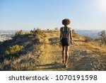 fit african american woman... | Shutterstock . vector #1070191598