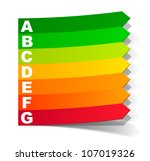 eps10  energy classification in ... | Shutterstock .eps vector #107019326