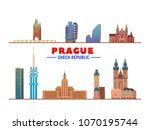 prague   czech republic  ... | Shutterstock .eps vector #1070195744