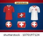 football switzerland jersey....   Shutterstock .eps vector #1070197124