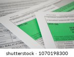 polish tax form pit 36 for... | Shutterstock . vector #1070198300