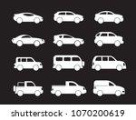 motor vehicle  pickup truck ... | Shutterstock .eps vector #1070200619