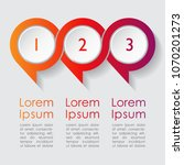 three step colorful round... | Shutterstock .eps vector #1070201273