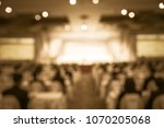 convention hall defocus... | Shutterstock . vector #1070205068