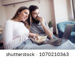 portrait of a man and woman...   Shutterstock . vector #1070210363