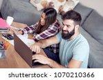 family debts and financial...   Shutterstock . vector #1070210366