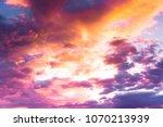 fiery backdrop burning skies    Shutterstock . vector #1070213939