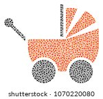 baby carriage collage of small...   Shutterstock .eps vector #1070220080