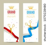 grand opening invitation banner.... | Shutterstock .eps vector #1070228480