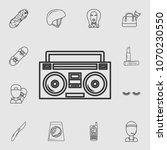 boom box or radio cassette tape ... | Shutterstock .eps vector #1070230550