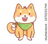 shiba inu  cute happy  adorable ... | Shutterstock .eps vector #1070231744